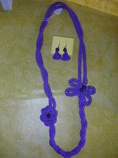 collana e orecchini tricotin
