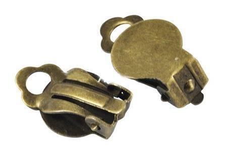 Clip orecchini bronzo anticato Nickel free Lead free