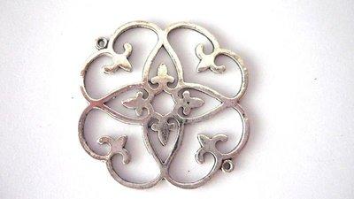 Link in alluminio argentato Nickel free