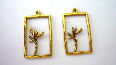Pendente in alluminio Cornice color oro anticato Nickel free