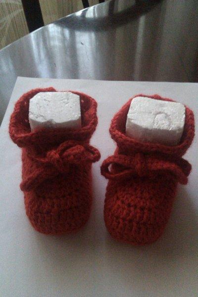 Scarpe Scarpine Neonato in lana all'uncinetto