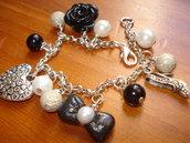 bracciale nero&perla