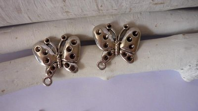 "Charms ""Big butterfly"", argento tibetano Nickel free e Lead free"