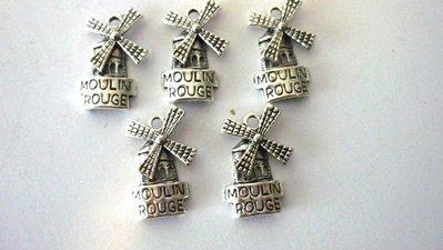Charms Moulin Rouge argento tibetano Nickel free 5 pezzi