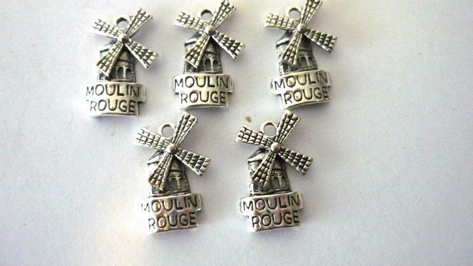 Charms Moulin Rouge argento tibetano Nickel free 5 pezzi