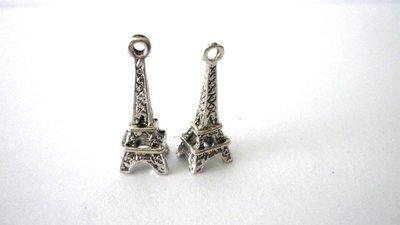 Charms Tour Eiffel argentato anticato Nickel free 5 pezzi