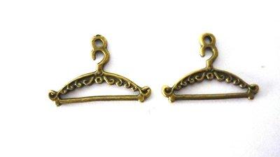 Charms appendiabiti bronzo anticato Nickel free Lead Free Set 2 pezzi