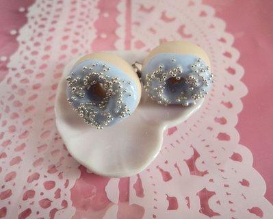 Donuts ciambelle orecchini a lobo in Fimo