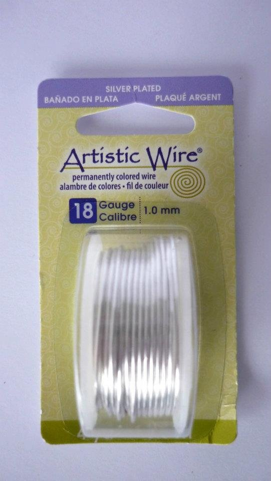 Artistic Wire® Silver No Tarnish, 18 Gauge (1,02 mm)