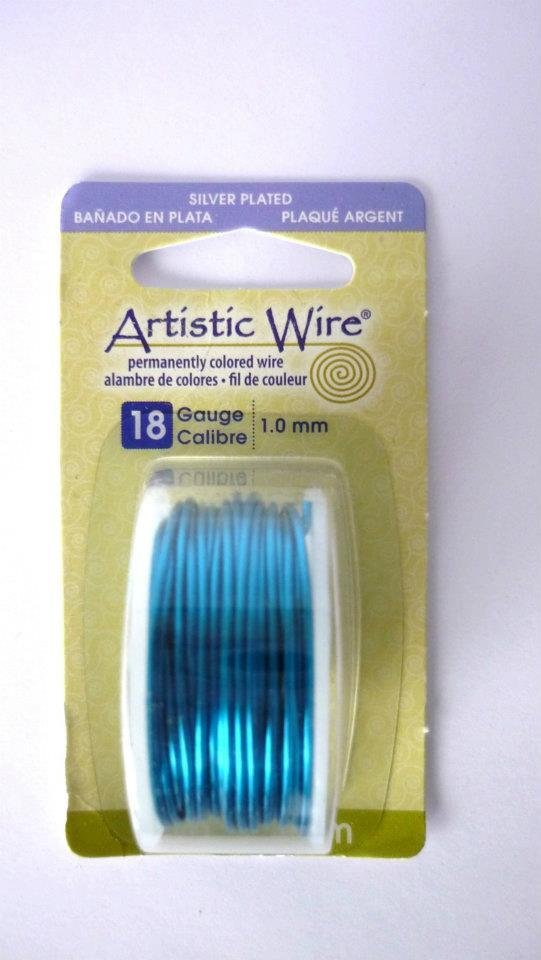 Artistic wire Peacock Blue