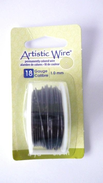 Artistic Wire® Black, 18 Gauge (1,02 mm). Bobina da 3,66 metri.