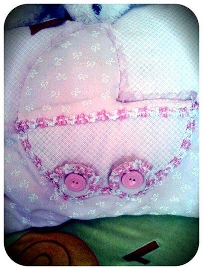 fiocco nascita e cuscino