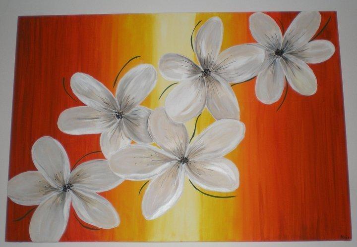 tela dipinta con fiori