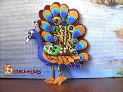 Broche Pavo Real