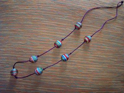 collana perle multicolori