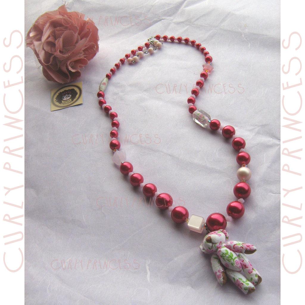 collana orso TEDDY caramelle - bear candy necklace