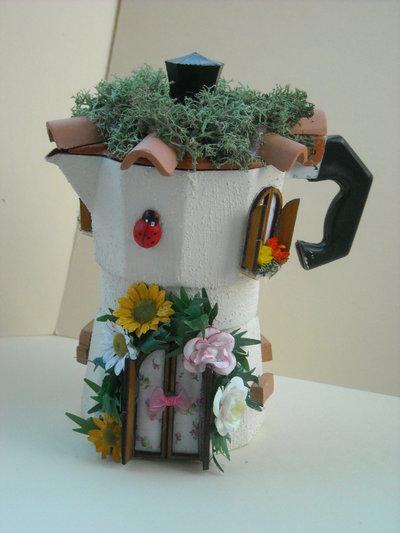 Caffettiera decoupage