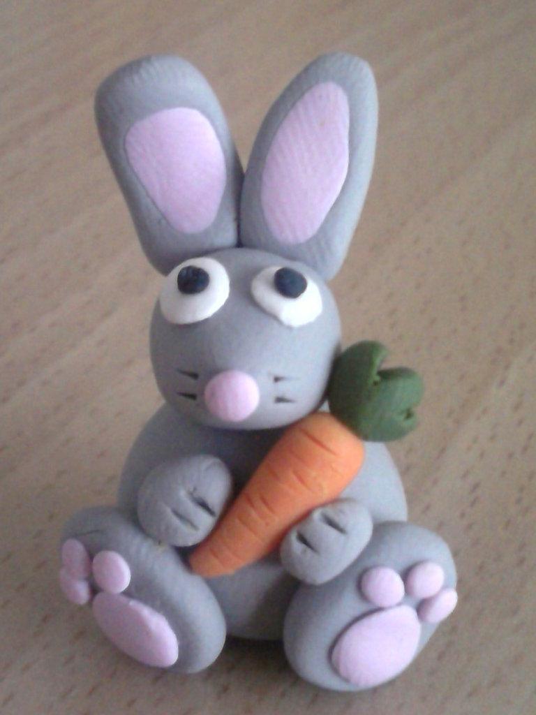 Coniglietto con carota fimo