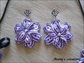 3D Flower 1, orecchini fiore in pasta polimerica/polymer clay