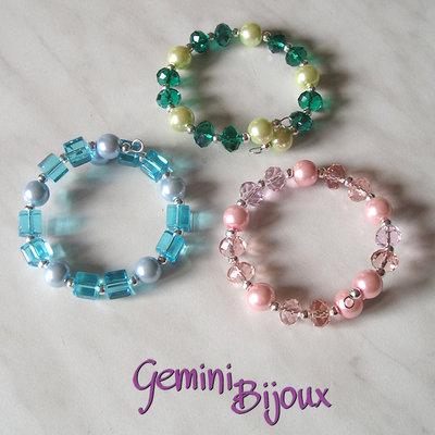 Bracciale rigido briolette e perle