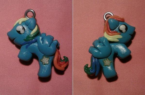 Ciondolo Mini Pony 3D fimo