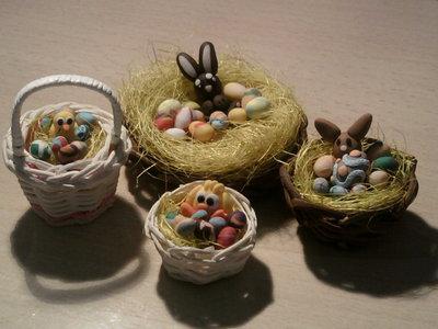 Cestini Pasqua fimo