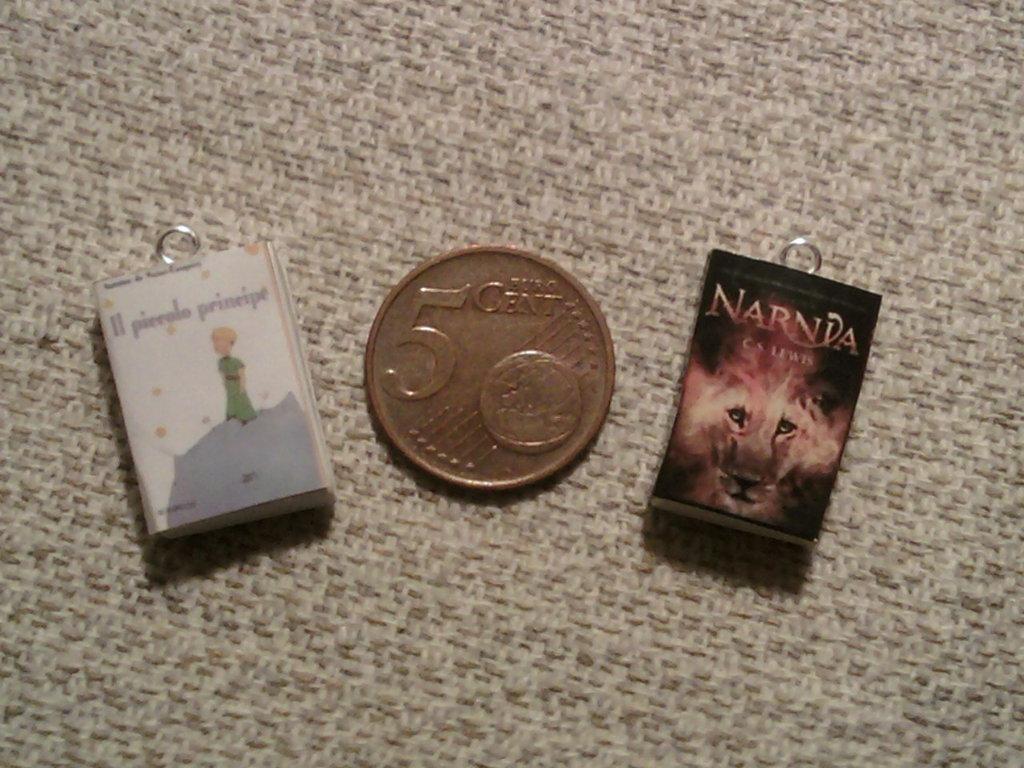 Ciondoli mini libri fimo