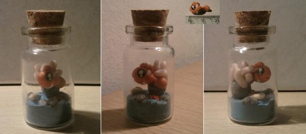 Bottiglietta 4 cm con mini Nemo fimo