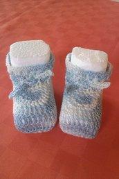 Scarpe Scarpine Neonato in cotone all'uncinetto
