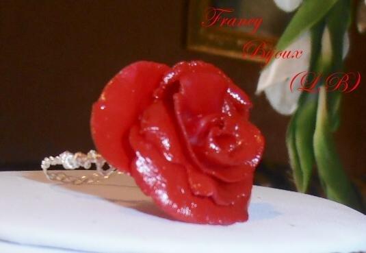Anello Rosa in pasta di mais Rosso