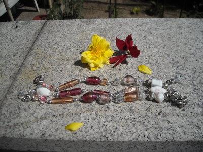 bracciale vetro e cristalli