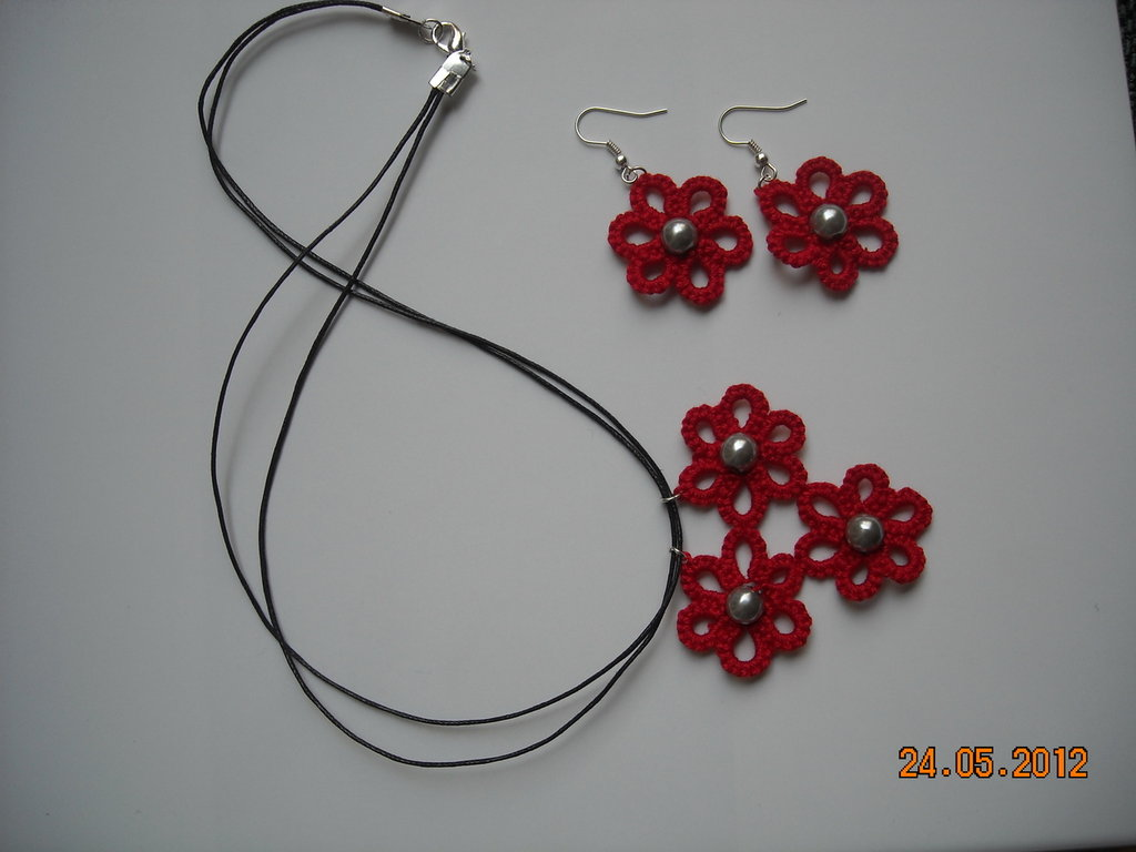 spesso collana orecchini con perline chiacchierino - Donna - Accessori  EI06