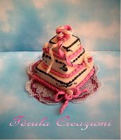 mini Wedding Cake - segnaposto bomboniera
