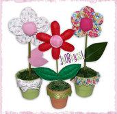 Piantine e fiori in stoffa