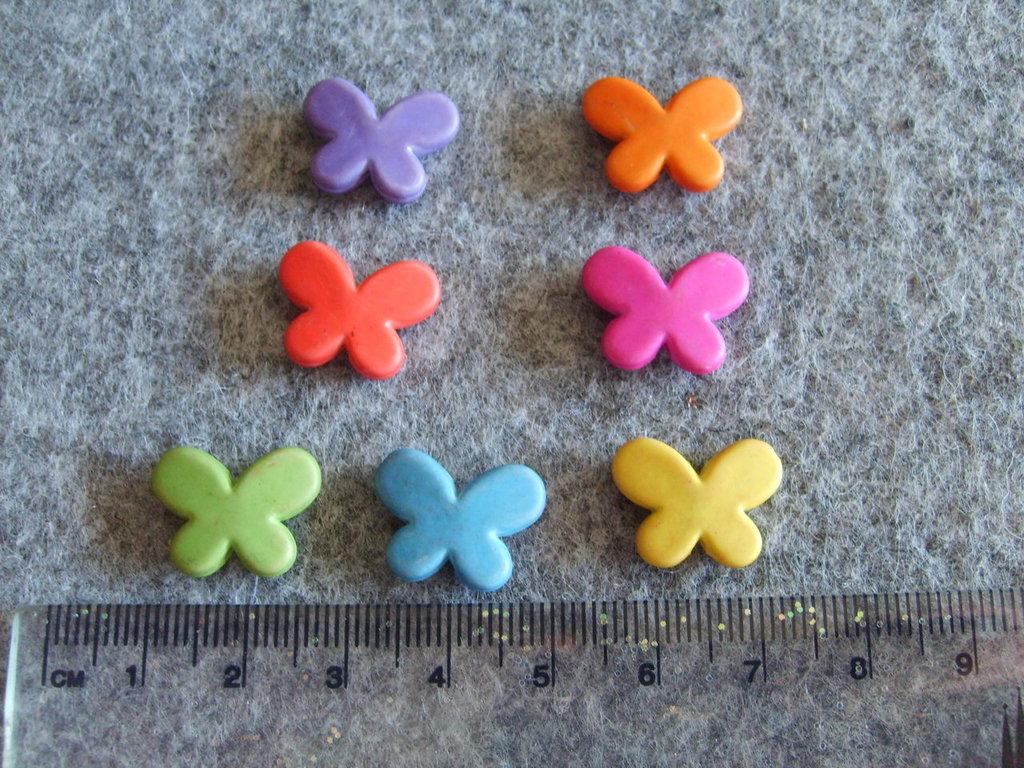 10 Perline in acrilico a forma di farfalla