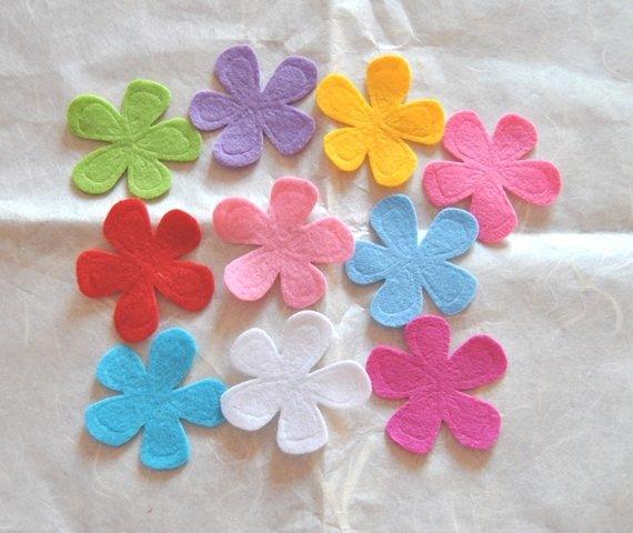 Fiori feltro Multicolor 10 pz