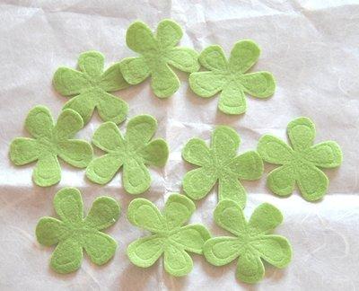Fiori feltro colore Verde - 10 pz