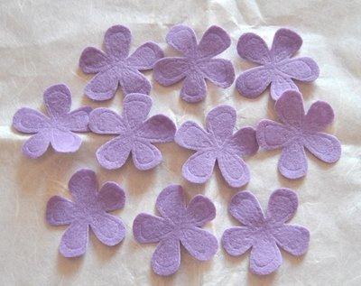 Fiori feltro colore Lilla - 10 pz
