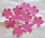 Fiori feltro colore Fucsia - 10 pz