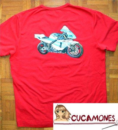 Camiseta Pintada a Mano Moto