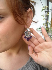 orecchini in agata