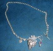 Bellissima collana handmade placcata argento