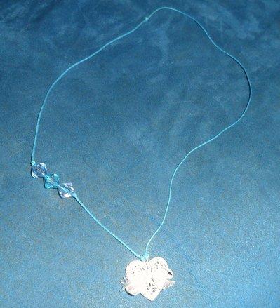 Collana handmade in voile e cotone cerato