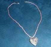 Bellissima collana handmade in cotone cerato intrecciato