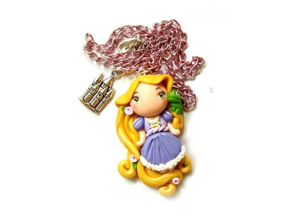 Collana Rapunzel e Pascal fimo