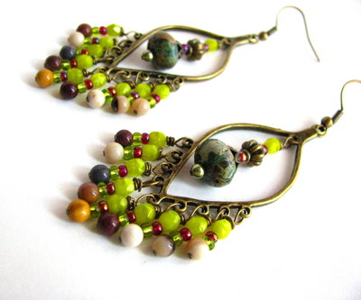 Pendientes multicolores odalisca