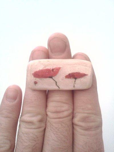 """anello 'papaveri rossi"""""""