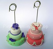 Mini wedding cake segnaposto portafoto - torte nuziali