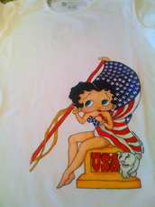 Betty boop US Flag
