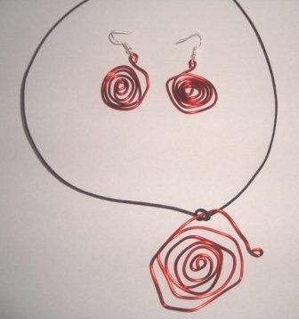 parure collana e orecchini
